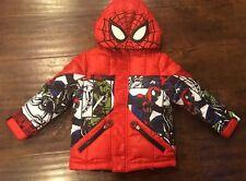 Spider-Man Winter Coat Jacket Hooded,Fleece-Lined,NWT Disney kids size 2