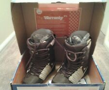 MENS 32 THIRTY-TWO LASHED SNOWBOARD BOOTS BRAND NEW SIZE-7  BROWN/ BEIGE/ GUM