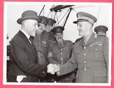 1940 Canadian Minister Ralston Bids Farewell General Odlum Original News Photo
