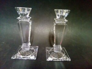 Pair Of Candle Holders Bohemian Crystal Height 15 CM