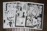 BOOKS OF MAGIC #60 PAGE 6, 13, & 15 ORIGINAL COMIC ART PETER GROSS VERTIGO LOT