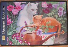 Fiddler's Elbow Designer Doormat Cats in The Garden Persis Clayton Weirs NWT