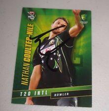 Nathan Coulter-Nile signed Australian ODI Card  + COA