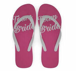 TEAM BRIDE Flip Flops   Team Bride   Bridal Party   Wedding flip flops   Hen Do