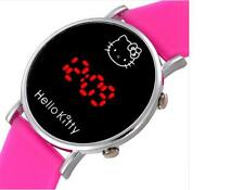 Fashion Cartoon Watch Hello Kitty Girls Kid Children Silicone Digital Led Quartz