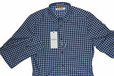 New Ben Sherman Mens Button Up Casual Shirt in Blue Colour Size S