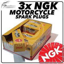 3x NGK Spark Plugs for TRIUMPH 675cc Street Triple R 08-> No.4548