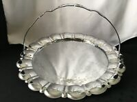 Vintage Forman Bros. Chrome Ware Serving Tray /Platter with handle art deco