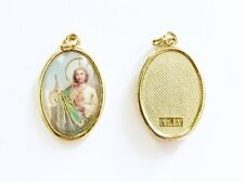 ST SAINT JUDE MEDAL - Brass With Colour Picture