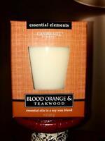 Candle-Lite Blood Orange & Teakwood Soy Wax 9 oz. NIB Scented Candle NEW