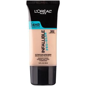 L'Oreal Paris Makeup Infallible Up to 24HR Pro-Glow Foundation, 202 Creamy 1 fl.