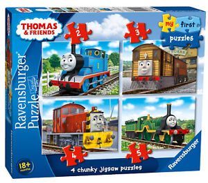 06940 Ravensburger Thomas and Friends Jigsaw Puzzles (2,3,4,5pc) Childrens 14pc