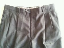 Hickey Freeman Dress Pants Mens 36x27 Wool Charcoal Gray Pleated