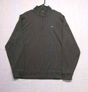 Vineyard Vines Men's Gray Pullover Jacket 1/4 Zip - Size Large