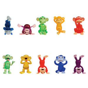 24 - Assorted Color Funny Monkey Small Monkeyin' Around Tiny Figurines