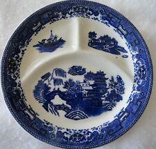 "Vintage Blue Willow McNicol Divided Dinner 9 1/2"" Plate - Clarksburg WV"