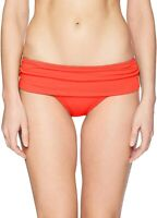 La Blanca Womens Swimwear Orange Size 14 Solid Hipster Bikini Bottom $57 132