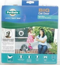 PetSafe Big Cat Door 4-Way Locking White Interior/Exterior Ppa00-11326