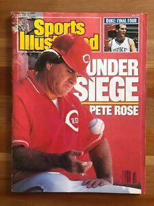 Sports Illustrated April 3 1989 Pete Rose NO LABEL