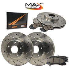 2014 2015 Fit Kia Forte (See Desc) Slotted Drilled Rotor w/Ceramic Pads F+R