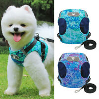 Reflective Dog Harness Lead set Adjustable for Small Pet Puppy Cat Walking Vest