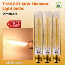 3 X Vintage Edison Lampadina Regolabile Incandescente E27 60W Alto T185 E27