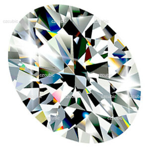 CUBIC ZIRCONIA LOOSE STONE EXCELLENT QUALITY OVAL SHAPE 7A CLEAR U.S.A SHIPPER 6