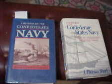 Lot of 2 History of the Confederate Navy Civil War HC VGC ex-library