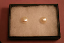 Beautiful Silver Earrings With Freshwater Pearls 3.4 Gr  1.4 Cm.Wide In Gift Box