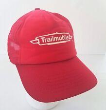 Trailmobile Snapback Trucker Hat Red Logo Made in USA Pro Fit Semi Trailers Vtg