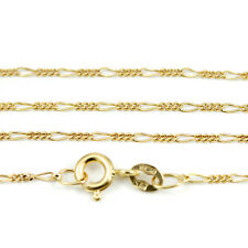 "18k Yellow Gold Figaro Chain Necklace 24""(new,2.52g)#2471e"