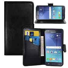 BLACK WALLET Leather  Case Phone Cover for Samsung Galaxy S3 MINI I8190 Plain UK