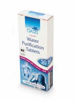 10 Water purification tablet OASIS ORG, POTABILIZADORAS DE AGUA SUPRVIVENCIA JW.