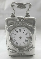 VICTORIAN STERLING SILVER CASED CARRIAGE CLOCK B'HAM 1894 - RESTORATION PROJECT