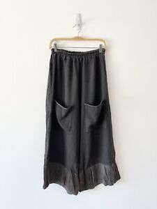 Cynthia Ashby Loose Wide Elastic Lagenlook Artsy Pants Women's Size S