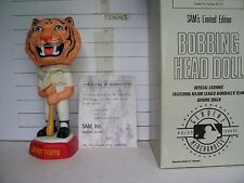 1998 SAM DETROIT TIGERS MASCOT PORCELAIN BOBBLEHEAD MINT & VERY RARE