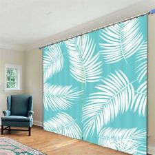 Light White Feather 3D Curtain Blockout Photo Printing Curtains Drape Fabric