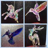 Christmas Tree Ornaments Decorations Lovely Unicorns Hummingbirds Reindeer Gift