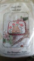 Lorri Birmingham Needle Keep Busy Bee counted cross stitch kit