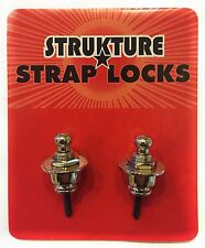 Strukture SSLN09 Pro Strap Locks Nickel Finish Full Set for Guitar or Bass
