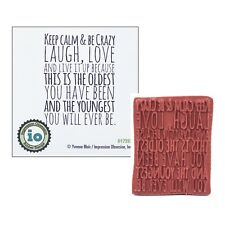 Birthday Rubber Stamp Keep Calm Be Crazy Cling D17252 Impression Obsession Words