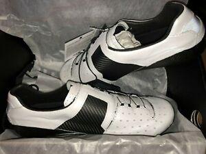Lake Men's CX403-X Road Cycling Shoes White Size 42.5 US 9.75 WHITE-BLACK