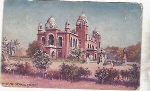 India ppc 1924 Madras, Senate House - Raphael Tuck Oilette card no. 7065