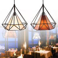 Vintage abat-jour diamant industriel Light Metal cadre cage garde bar cafés DIY