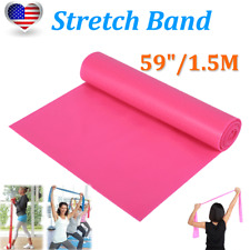 """59""""/1.5M Yoga Stretch Band Resistance Trainers Elastic Strap Fitness Strength"""