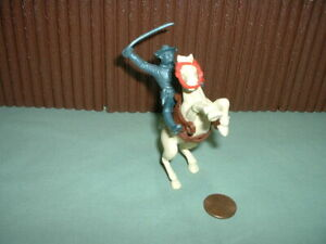 Vintage MARX 'Stockade-Ft. Apache' 7th Cavalry Mounted Soldier-NICE!