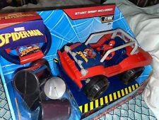 Marvel SpiderMan Quadricycle RC Car Remote Control Dune Buggy w/ Ramp 27mhz New