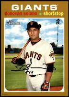 Donovan Solano 2020 Topps Heritage 5x7 Gold #9 /10 Giants