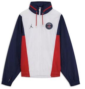 Jordan PARIS SAINT GERMAIN Nylon Hooded Mens Size 3XL Jacket DB6487 100 PSG XXXL
