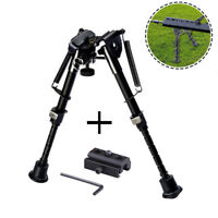 Adjustable Hunting Rifle Bipod 6 to 9 Inches Spring Return + Sling Swivel Mount